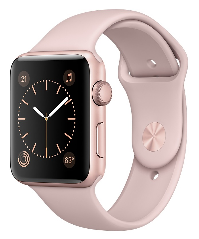 Apple Watch Sport Series 1 38mm Rose Gold with Pink Sand Sport Band