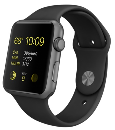Apple Watch Sport Series 1 42mm Space Gray with Black Sport Band