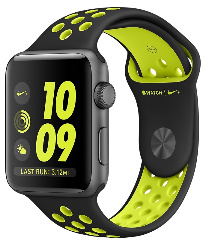 Apple Watch Nike+ 42mm Space Gray with Black/Volt Nike Sport