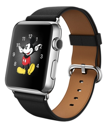 Apple Watch 42mm Stainless Steel Case with Black Classic