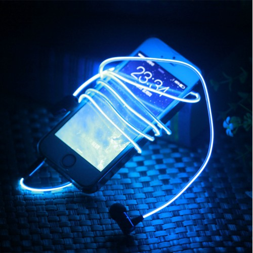 Lighted earphone
