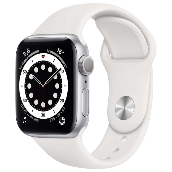 Apple Watch Series 6 44mm Silver / White